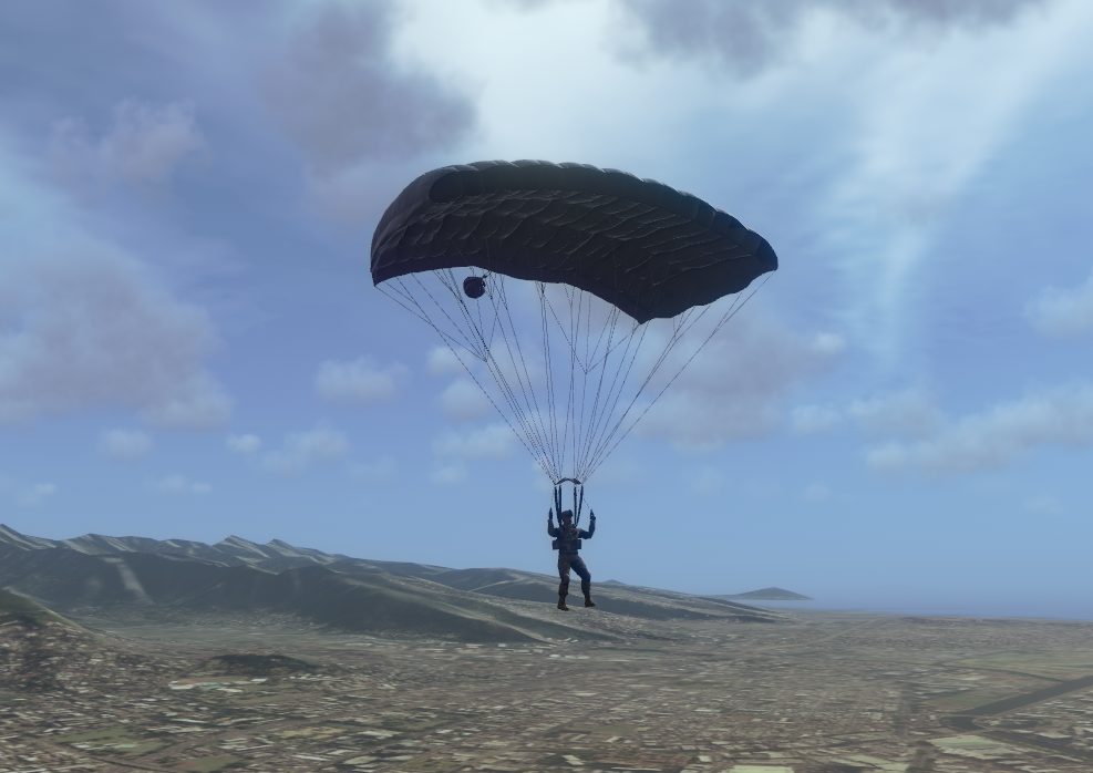 vrf capabilities parachuting